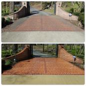 Brick entry cleaning. Power washing in Dyersburg, TN.